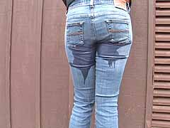 peeing in her jeans