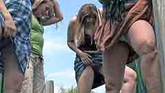 Beth wets her panties