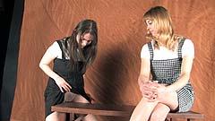 Mela and Vicktoria are naughty schoolgirls wetting and masturbating