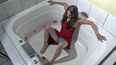 Mela wetting and playing with herself in a jacuzzi
