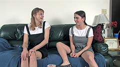 Mela and Vicktoria are naughty school girls