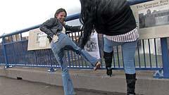 Mela shows Beth her wet pants
