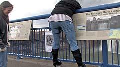 Beth enjoys her wet pants feeling