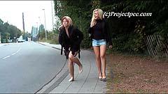 Maja and Lindsay desperate to pee