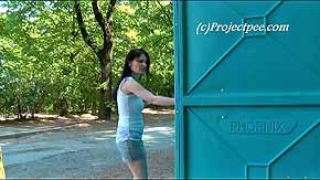 Yassie peeing by office doors