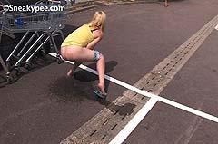rear view girl peeing