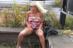 peeing while sitting outdoors